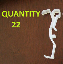 """Qty 22 of 2.5"""" Valance Clips Horizontal Faux Wood & Wood Blinds Parts 2 1/2"""""""