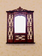 Dollhouse Miniature 1:12 Scale Rosewood Mirror- Artist Made Furniture