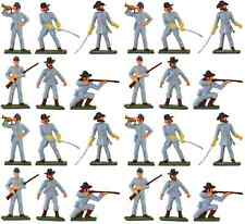 Starlux American Civil War CSA Infantry - 24 Painted 60mm Plastic Toy Soldiers