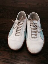 Puma White/ Light Blue Sneakers Size US 8 Very Clean And Lightly Used