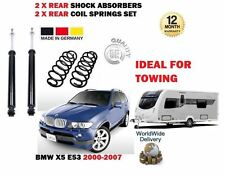 FOR BMW X5 E53 2000-2007 IDEAL TOWING 2x REAR SHOCK ABSORBER + 2X COIL SPRINGS