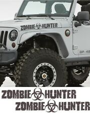 Zombie hunter walking dead jeep sticker response team car wrangler Apocalypse