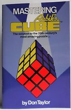 Mastering Rubik's Cube Book New Colour Ed by Don Taylor The Amazing Puzzle Game