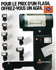Publicité Advertising 1981 Photo les Flash Agfa