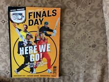 T20 cricket finals day programme 2011 signed x30 Hants Leics Lancs Somerset