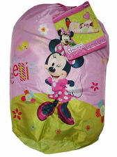 Camping Slumber Sleeping Bag + Backpack Disney Minnie Mouse Girl Age 3+ NEW