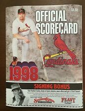Mark McGwire St. Louis StL Cardinals Scorecard Homerun HR 70 September 27 1998