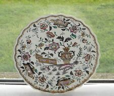 Edge Malkin & Co Antique Pottery Cabinet Plate c1870 Chinese Scroll Pattern 18cm