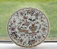 Edge malkin & co poterie antique armoire plaque c1870 chinese scroll pattern 18cm