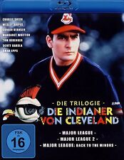 Major League 1 2 & 3 trilogy (Charlie Sheen) - PAL UK Region 2 BluRay BoxSet NEW
