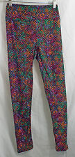 Women's LuLaRoe OS (One Size) Leggings Multi-Colored Abstract Graphic