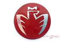 40 MM. GLOSSY RED FIBER CHROMED MIDSHIP LOGO HORN EMBLEM FOR MR2 SPYDER MRS JDM