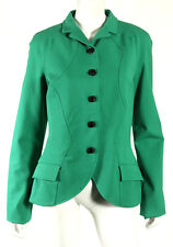 PROENZA SCHOULER Sea Green Cotton Stretch Knit Seamed Detail Jacket 10