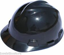 MSA BLACK V-Gard Cap Style Safety Hard Hat Ratchet Suspension NEW Fast Shipping!