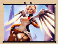 Game Overwatch OW Mercy Home Decor Poster Wall Scroll Mural 40*55cm Gift #H-L67