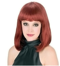 Synthetic Role play Reenactment or Crossdresser Costume Short Auburn Wig