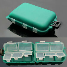 10 Grids Useful Outdoor Fishing Gadget Box Green Lure Fishhook Storage Cases