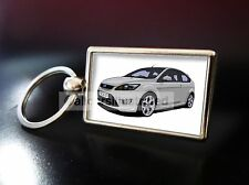 FORD FOCUS ST MK2 (FACELIFT) METAL KEY RING. CHOOSE YOUR CAR COLOUR.