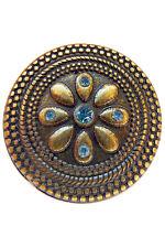 11 pcs NAVAJO BLUE FLOWER 30mm CONCHO AM LARP Vintage Leather Rivet Conchos