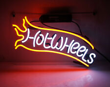 TN083 'Hot Wheels' Toys Racing Room Wall Display Decor Neon Light Sign LED 14x9