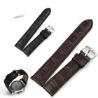 18~22mm Genuine Leather Strap Steel Buckle Wrist Watch Band Soft Fashion Bands