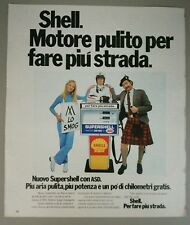 Pubblicità vintage 1972 SHELL CARBURANTE advertising werbung publicité reklame