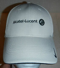 Alcatel-Lucent Telecommunications Nike Golf Tan Baseball Hat Cap FlexFit Sz S/M