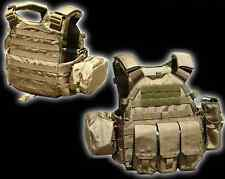 NEW Airsoft CS Hunting Protective TMC 6094 style Plate Carrier w 3 pouches CB A
