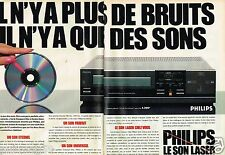 Publicité advertising 1984 (2 pages) Hi Fi la platine Laser Philips