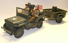 1:18 Ultimate Soldier 21st Century WWII U.S Willy Jeep Tow w BBI Figures Troops