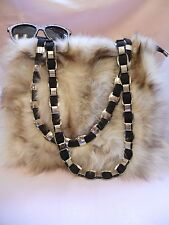 LARGE ARCTIC FOX FUR PURSE SHOULDER BAG TOTE REPURPOSED RECYCLED CHAIN STRAP
