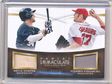 2015 PANINI IMMACULATE BRYCE HARPER, STEPHEN STRASBURG GAME-USED MATERIAL 23/49
