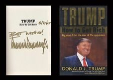 DONALD TRUMP Autographed Signed Book          How To Get Rich   US President