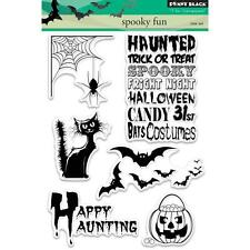 New Penny Black RUBBER STAMP Clear set FREE USA SHIP HALLOWEEN SPOOKY FUN