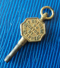 Advertising Pocket Watch Key - F. Unthank of Oxton Road Birkenhead Merseyside