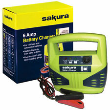 Sakura SS3630 12V 6A Car Battery Charger Cars Vans Bikes Brand New