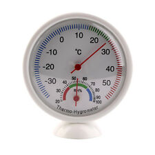 Mini Round Dial Indoor Thermometer Temperature Wet Hygrometer Meter Useful