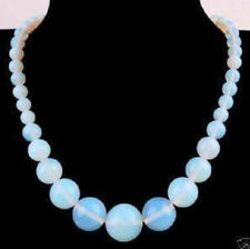wholesale 6-14mm natural Opal Round Gemstone Beads Necklace17""