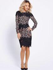 Myleene Klass Leopard And Lace Pencil Dress 16 Rrp £87 Bnwt B17