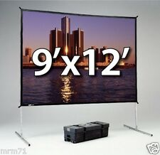 DA-LITE FAST-FOLD DELUXE 9'x12' WITH DA-MAT FRONT PROJECTION SURFACE 88619 NEW