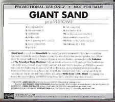Giant Sand - proVisions USA Advance CD 2008 Diff BackCover Howe Gelb