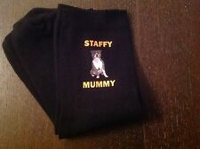 STAFFY MUMMY SOCKS BIRTHDAY GIFT PRESENT 6/8 MUM STAFFORDSHIRE BULL TERRIER