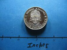 WILLIE SHOEMAKER HORSE RACING JOCKEY 1946-1971 PERFORMERS 25 YEARS SILVER COIN