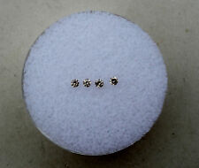 4 Champagne Diamond Loose Rounds 1.5mm each