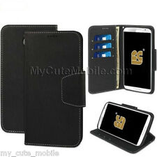 Motorola Nexus 6 XT1103 Flip Case - Black Synthetic Leather Infolio Wallet Cover