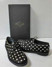 ADIEU PARIS Black & White Type 1 Spotted Haircalf Shoes 39 NEW IN BOX $595