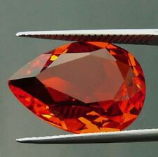 Unheated 17.85ct Padparadscha Sapphire Orange 13x18mm Pear Cut AAAA+ Gem