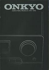 Onkyo HiFi catálogo folleto 97/98 tx-ds939 a-sv640 tx-8511 dx-7911 ta-6711, etc.