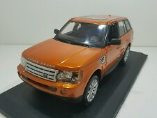 Maisto 1:18 Land Rover Range Rover Sport, orange model die-cast car.