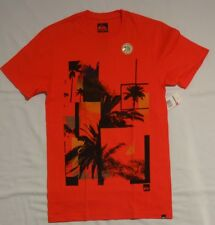 NEW MENS QUIKSILVER going gone SHORT SLEEVE T-SHIRT SLIM FIT ORANGE SMALL